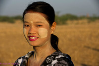 Young woman in Bagan